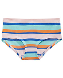 Maidenform Seamless Girlshort Pop Stripe Underwear, Little & Big Girls