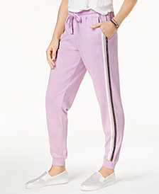 Hippie Rose Juniors' Side-Striped Jogger Pants