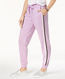 Hippie Rose Juniors' Side-Striped Jogger Pants