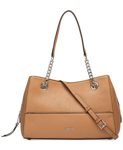Calvin Klein Marie Leather Medium Satchel