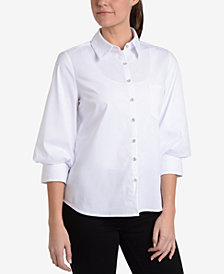 NY Collection Blouson-Sleeve Blouse