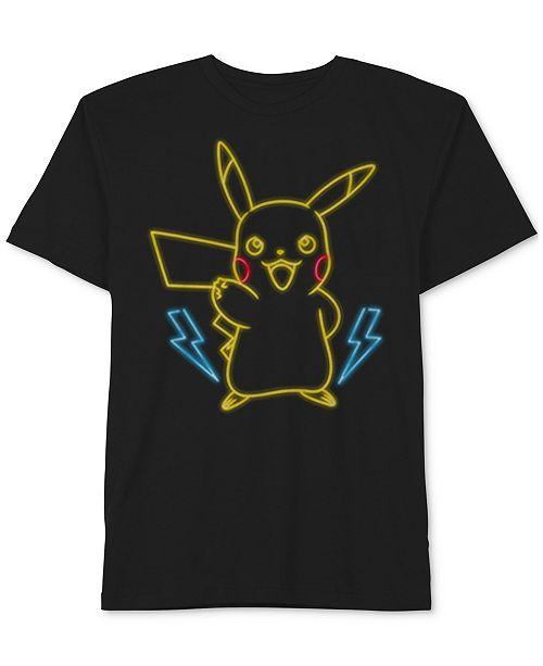 Pokemon Pokémon Pikachu-Print Cotton T-Shirt, Big Boys
