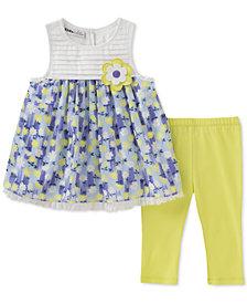 Kids Headquarters 2-Pc. Floral-Print Tunic & Leggings Set, Toddler Girls