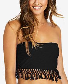 Raisins Strapless Fringe Bikini Top