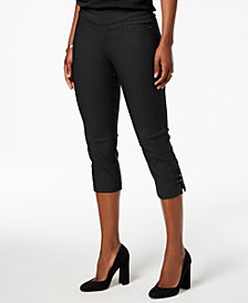 Lee Platinum Petite Cropped Pull-On Capri Pants