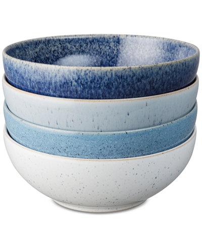 Denby Studio Craft Blue Cereal Bowls, Set of 4