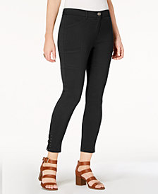 Style & Co Lace-Up Straight-Leg Pants, Created for Macy's