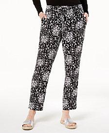 MICHAEL Michael Kors Printed Drawstring Pants