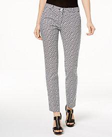 MICHAEL Michael Kors Miranda Printed Slim-Leg Pants
