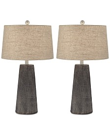 Pacific Coast Set of 2 Concrete Table Lamps, Created for Macy's