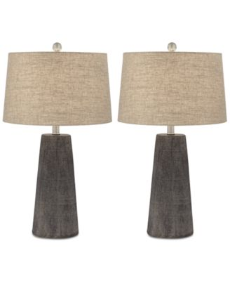 Pacific Coast Set Of 2 Concrete Table Lamps, Created For Macyu0027s