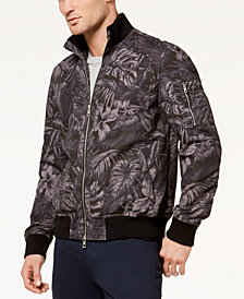 Michael Kors Men's Palm-Print Bomber Jacket