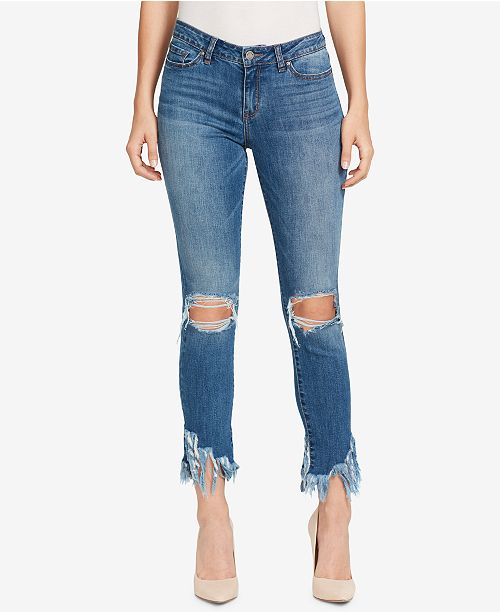 d5e93bbcf1 WILLIAM RAST Ripped Fringe-Hem Skinny Jeans & Reviews - Jeans ...