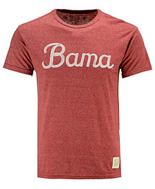 Retro Brand Men's Alabama Crimson Tide Mock Twist Script Logo T-Shirt