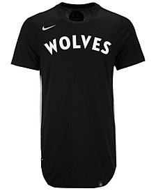 Nike Men's Minnesota Timberwolves Alternate Hem Short Sleeve T-Shirt