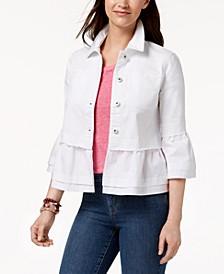 Ruffled Denim Jacket, Created for Macy's