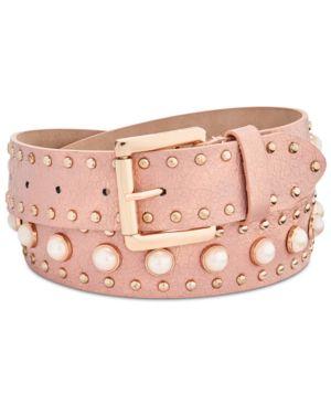 Steve Madden Imitation Pearl Studded Belt 5531079