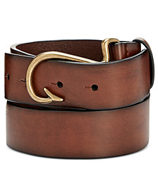 Club Room Men's Fish-Hook Buckle Belt, Created for Macy's