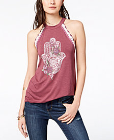 American Rag Juniors' Hamsa Graphic Top, Created for Macy's