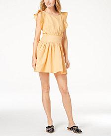 Free People New Erin Ruffled Mini Dress
