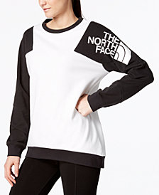 The North Face Colorblock-Logo Unlined Sweatshirt