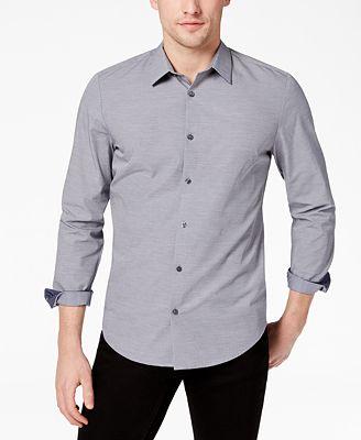 Calvin Klein Men's Basketweave Textured Shirt
