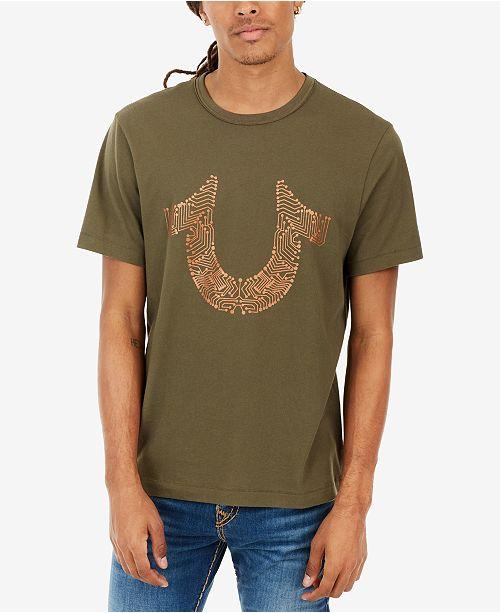 924062db True Religion Men's Horseshoe Logo-Print T-Shirt & Reviews - T ...