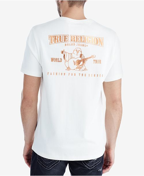 5d012b54 True Religion Men's Rose Gold Metallic Logo-Print T-Shirt & Reviews ...