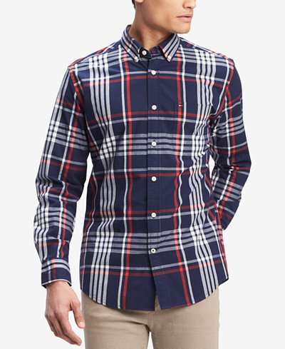 Tommy Hilfiger Men's Plester Plaid Pocket Shirt, Created for Macy's