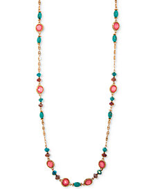 "lonna & lilly Gold-Tone Multicolor Stone & Bead 40"" Strand Necklace"