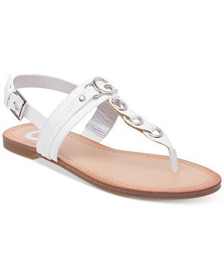 9d546a5255c2 G by GUESS Lesha Flat Sandals   Reviews - Sandals   Flip Flops - Shoes -  Macy s