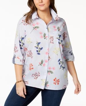 6ada4a12a08c1 Tommy Hilfiger Plus Size Cotton Utility Shirt
