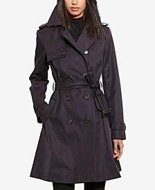 Lauren Ralph Lauren Petite Double-Breasted Skirted Trench Coat
