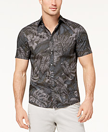 Michael Kors Men's Lightweight Tropical-Print Shirt