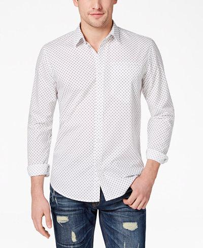 American Rag Men's Geometric Print Shirt, Created for Macy's