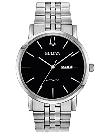 Bulova Men's Automatic American Clipper Stainless Steel Bracelet Watch 42mm