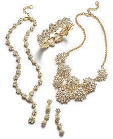 Charter Club Gold-Tone Crystal & Imitation Pearl Collection, Created for Macy's