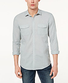 I.N.C. Men's Textured Chambray Shirt, Created for Macy's