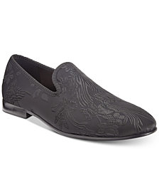 Tallia Men's Enrico Embossed Satin Smoking Slippers