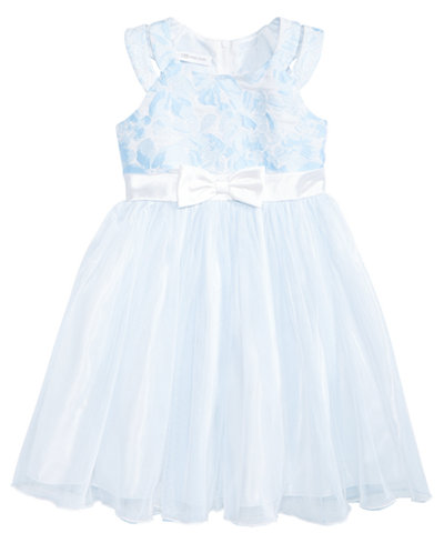Bonnie Jean Floral Jacquard Ballerina Dress, Big Girls
