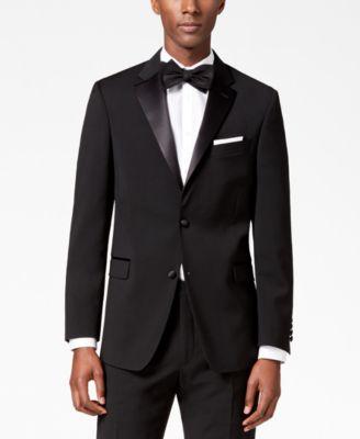 Men's Modern-Fit Flex Stretch Black Tuxedo Jacket