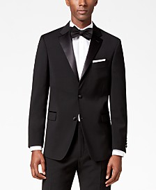 Tommy Hilfiger Men's Modern-Fit Flex Stretch Black Tuxedo Jacket