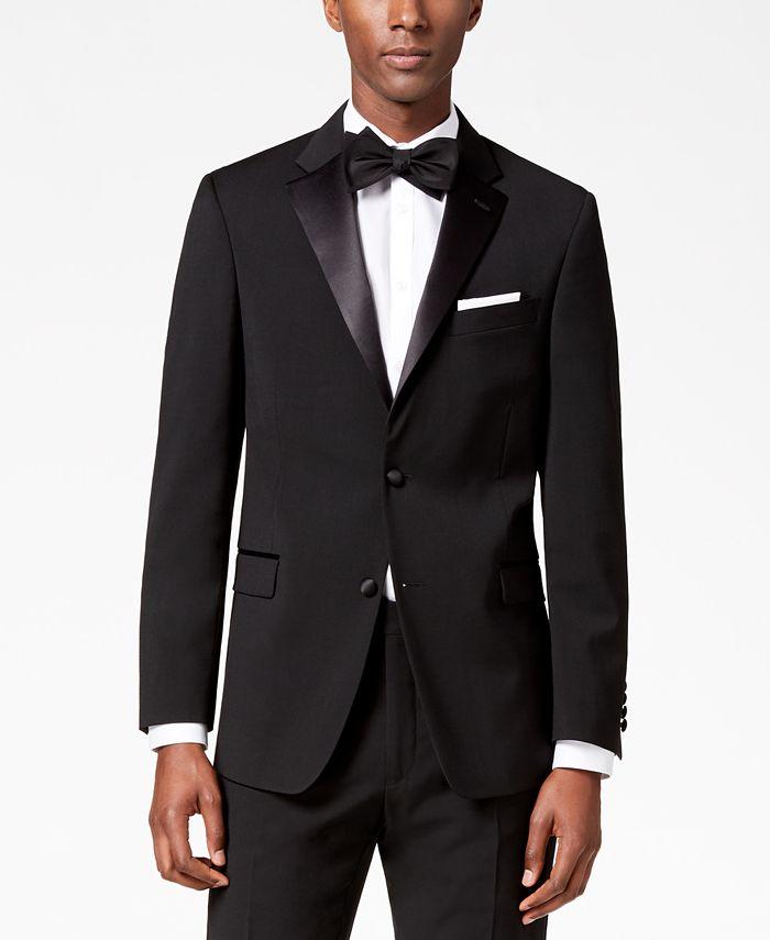 Tommy Hilfiger - Men's Modern-Fit Flex Stretch Black Tuxedo Jacket