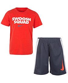 Nike 2-Pc. Graphic-Print T-Shirt & Shorts Set, Toddler Boys