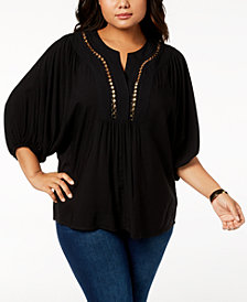 Love Scarlett Plus Size Shirred-Sleeve Tunic