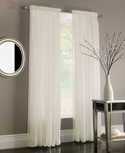 Miller Curtains Sheer Preston Poletop Window Treatment Collection ...