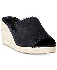 Lauren Ralph Lauren Carlynda Espadrille Wedge Sandals