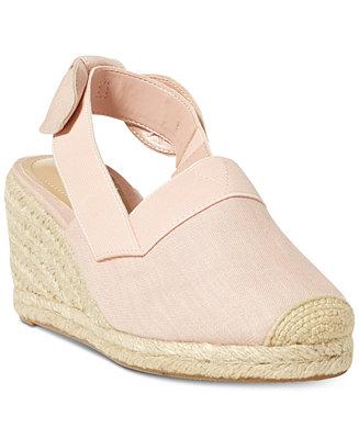 220923a692f Lauren Ralph Lauren Helma Espadrille Wedge Sandals   Reviews - Sandals    Flip Flops - Shoes - Macy s