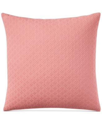 "Diamond Dot Cotton 300-Thread Count 18"" x 18"" Decorative Pillow, Created for Macy's"