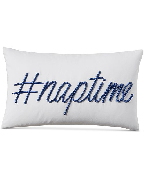 """Charter Club CLOSEOUT! Word 12"""" x 18"""" Decorative Pillow, Created for Macy's"""
